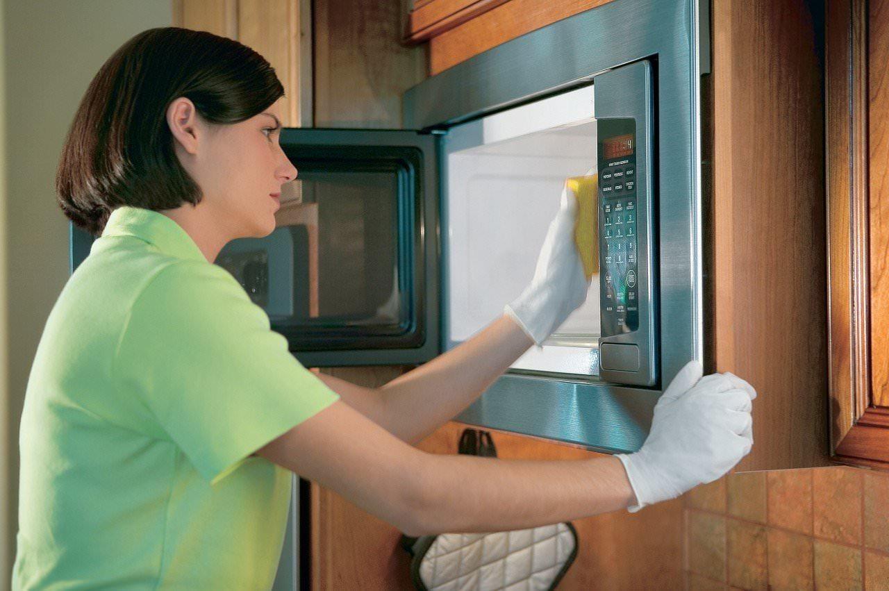 Отмыть микроволновку