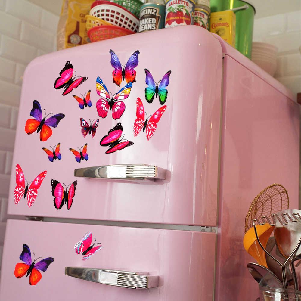 Старые наклейки на холодильнике