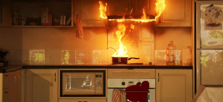 пожар в кухне